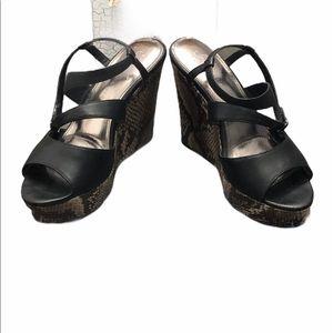 Sofia by Sofia Vergara Snakeskin Wedge  Sandals